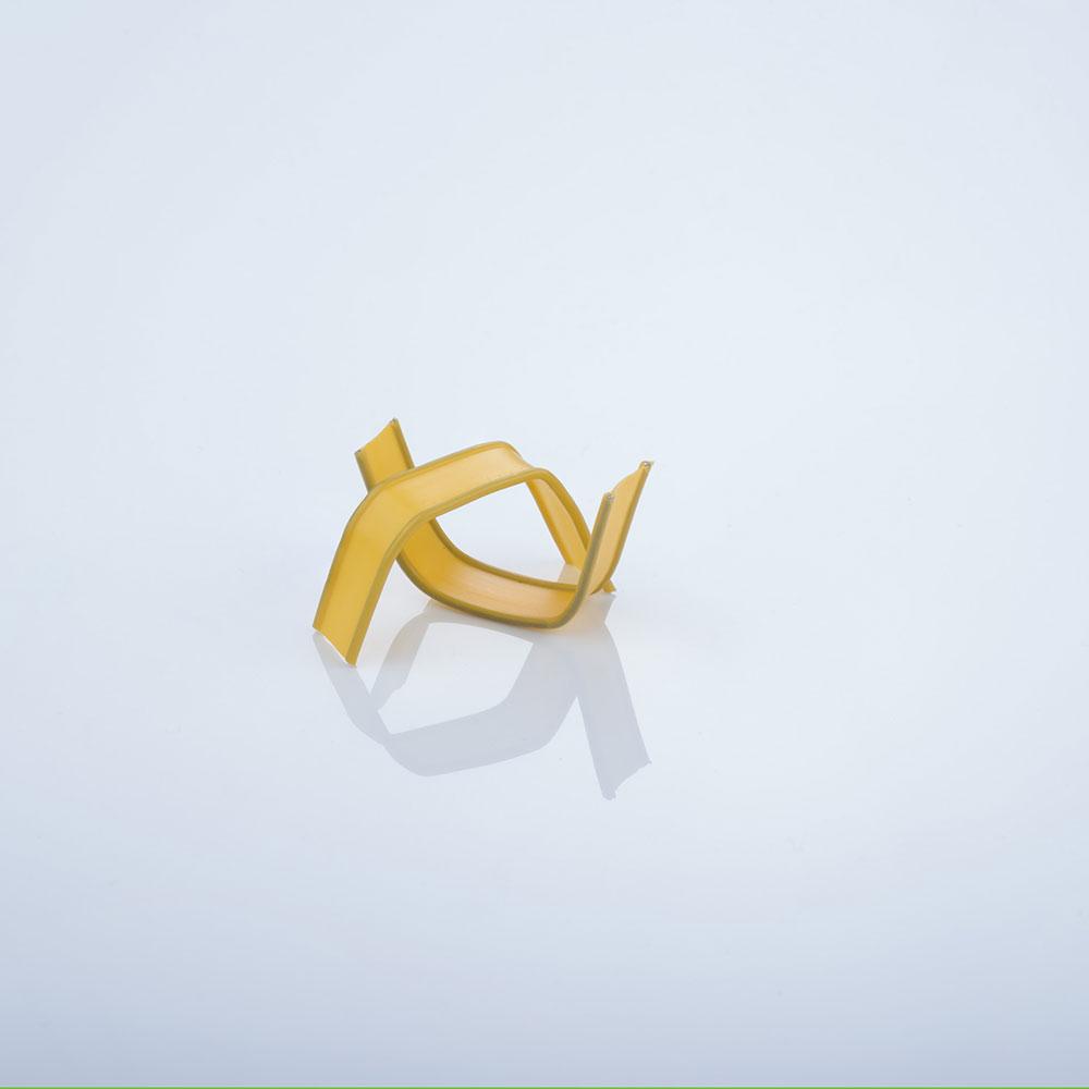 U-Clips, gelb gebogen