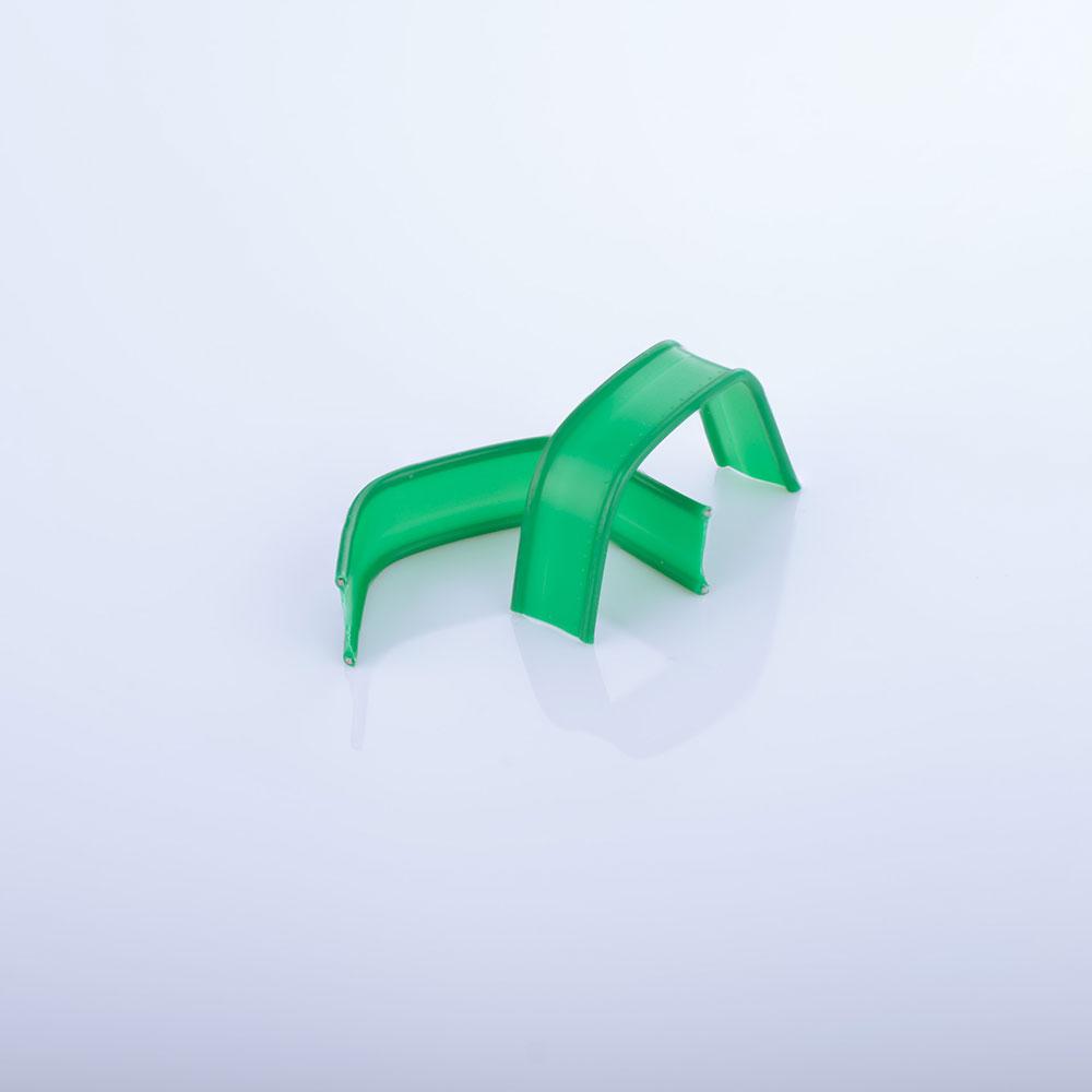 U-Clips, grün gebogen