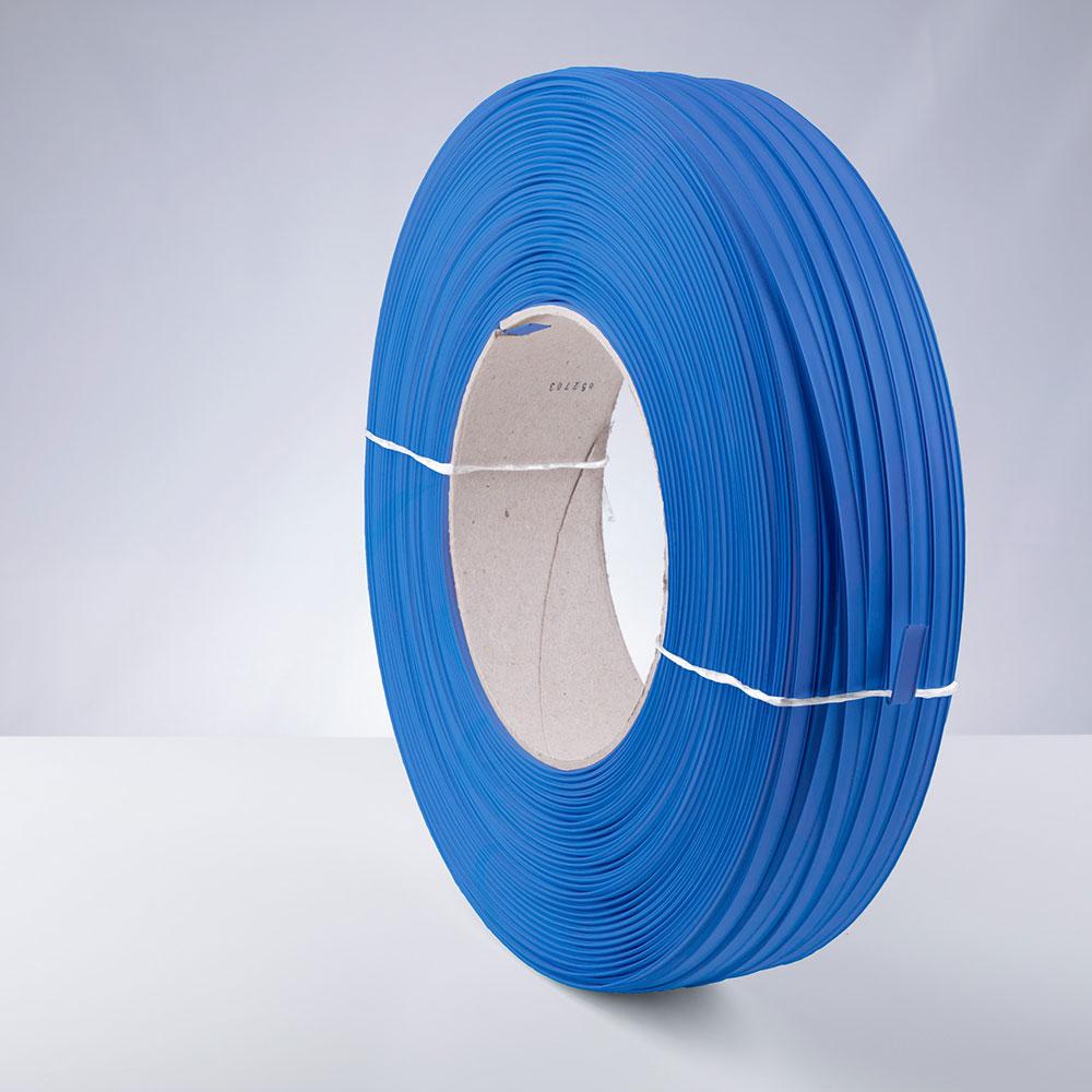Kunststoff-Clipband Rolle, blau, stehend, von links