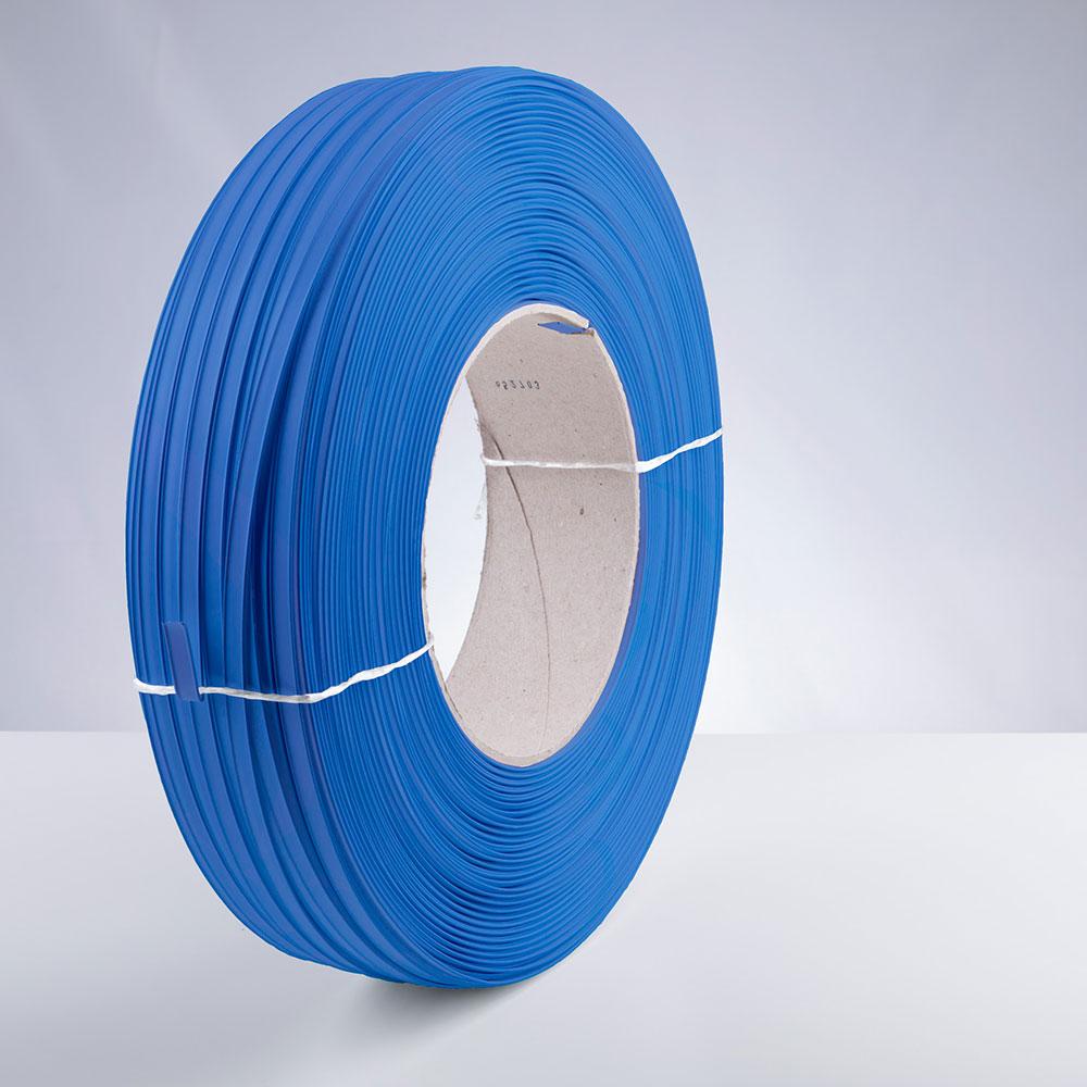 Kunststoff-Clipband Rolle, blau, stehend, von rechts
