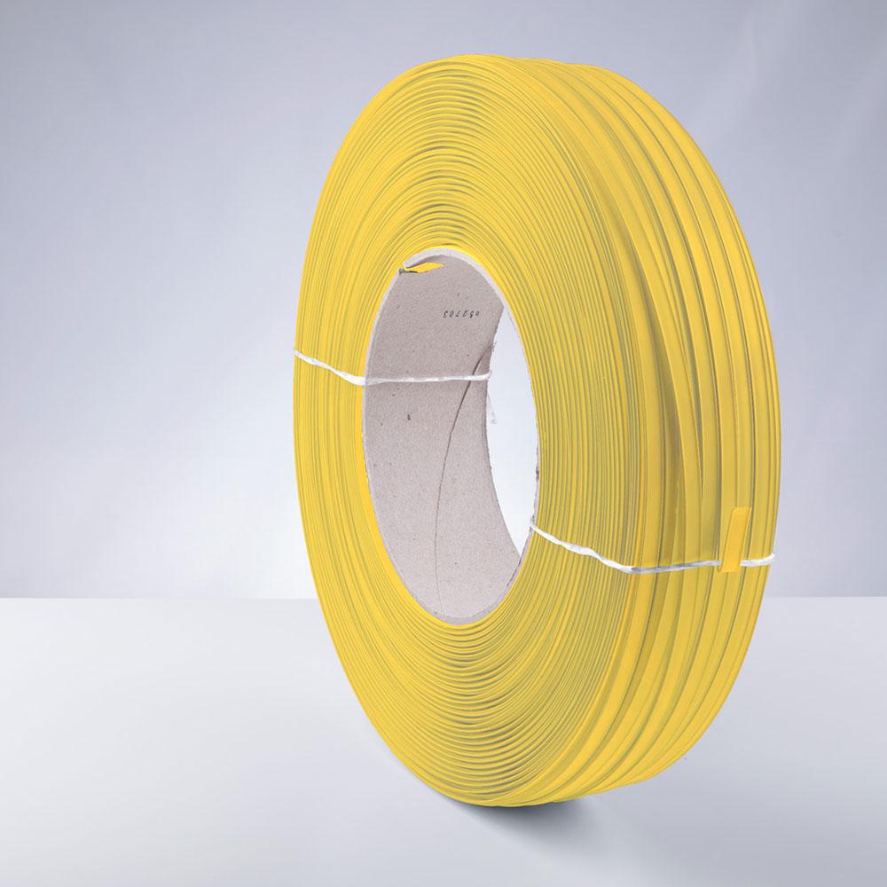 Kunststoff-Clipband Rolle, gelb, stehend, von links