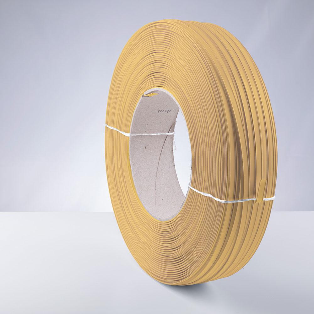 Kunststoff-Clipband Rolle, gold, stehend, von links