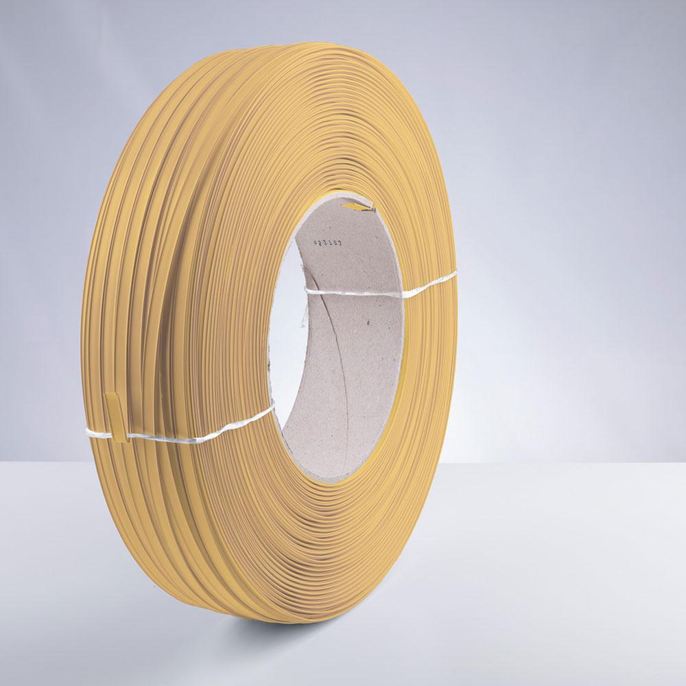 Kunststoff-Clipband Rolle, gold, stehend, von rechts