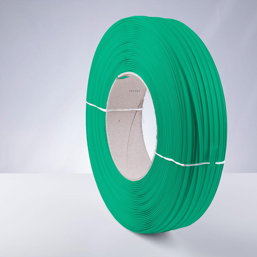Kunststoff-Clipband Rolle, grün, stehend, von links
