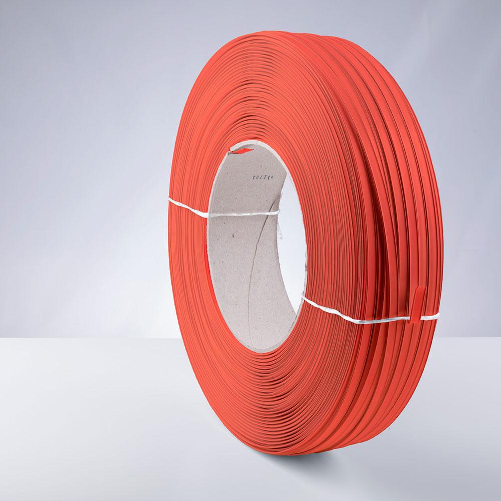 Kunststoff-Clipband Rolle, orange, stehend, von links