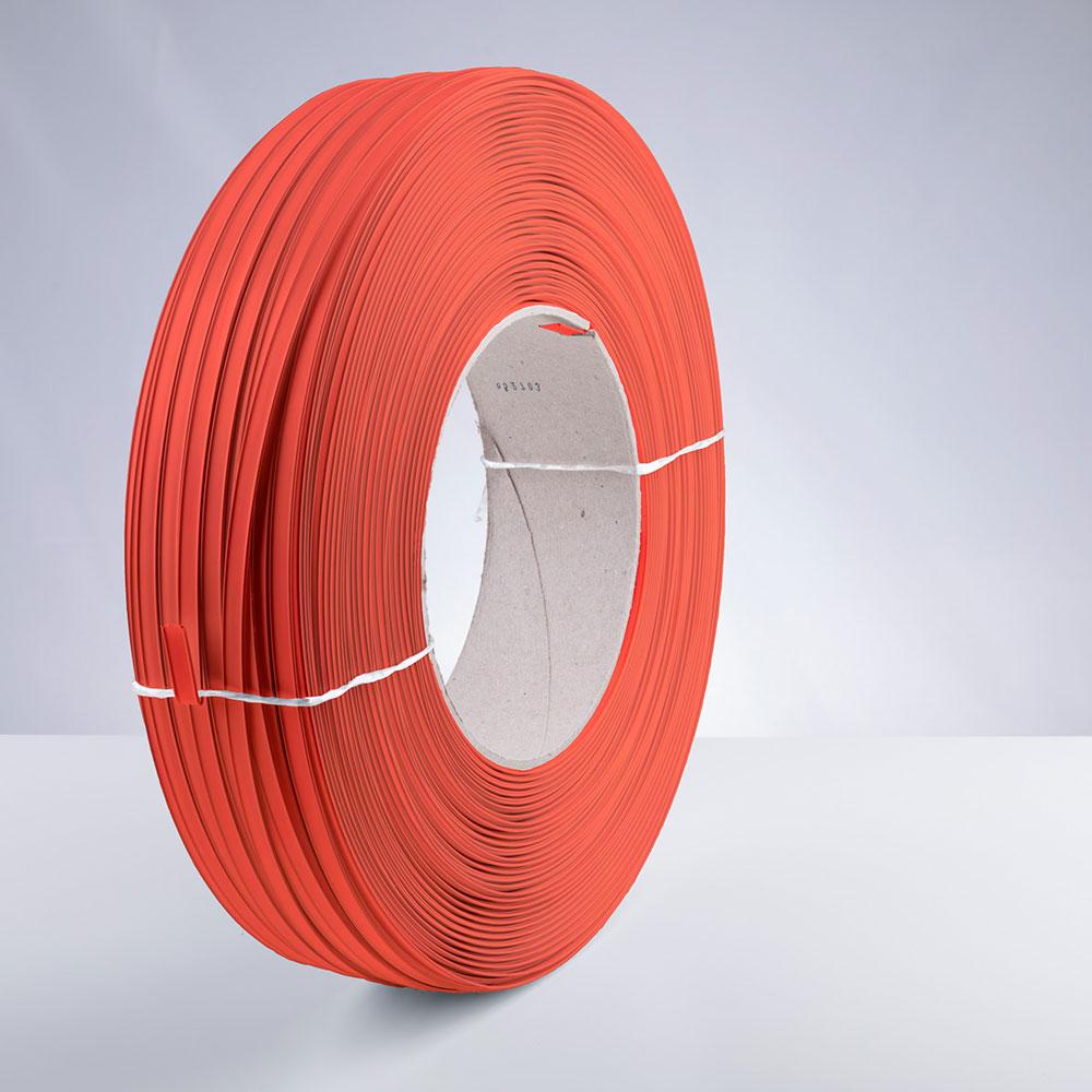 Kunststoff-Clipband Rolle, orange, stehend, von rechts