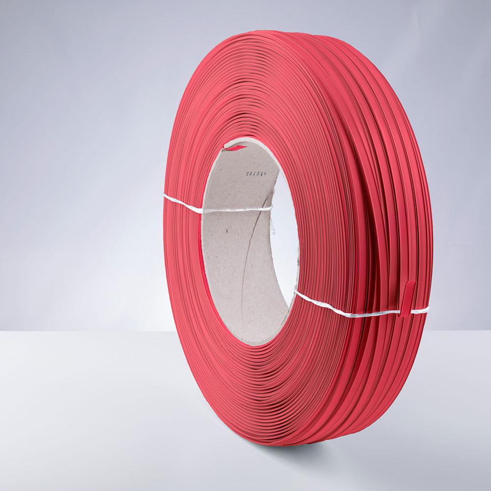 Kunststoff-Clipband Rolle, rot, stehend, von links