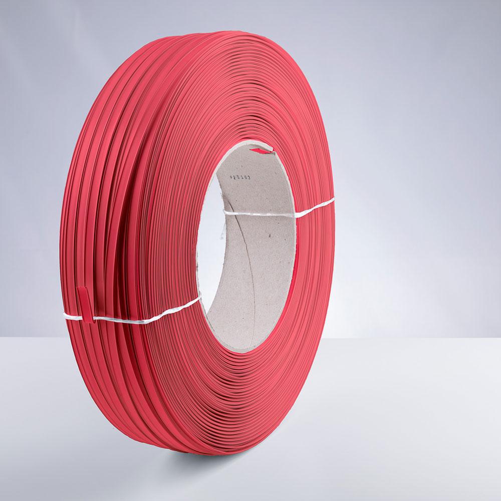 Kunststoff-Clipband Rolle, rot, stehend, von rechts