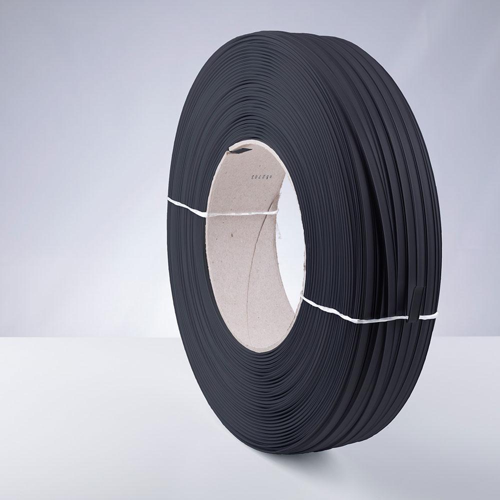 Kunststoff-Clipband Rolle, schwarz, stehend, von links