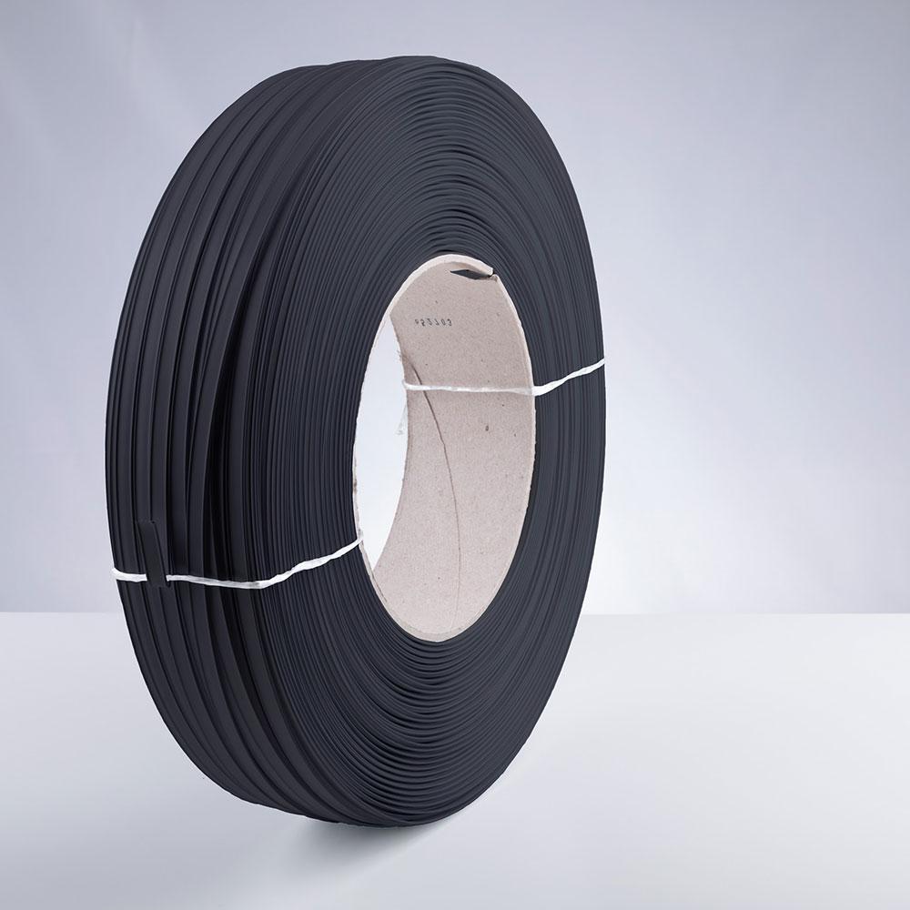 Kunststoff-Clipband Rolle, schwarz, stehend, von rechts