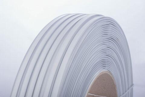 Kunststoff-Clipband Rolle, weiß, Detail von rechts