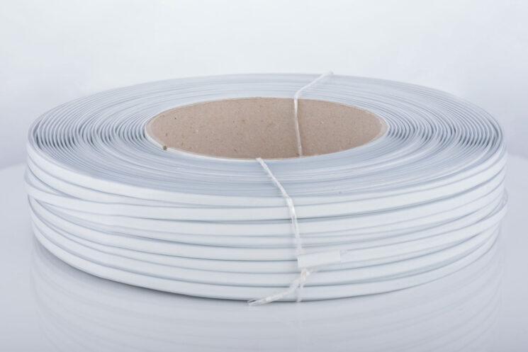 Kunststoff-Clipband Rolle, weiß, von vorne